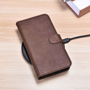 High Quality Handmade Mobile Phone Full Protective Case OEM RFID Cellphone Leather Covers Case for iPhone 12 Pro Max