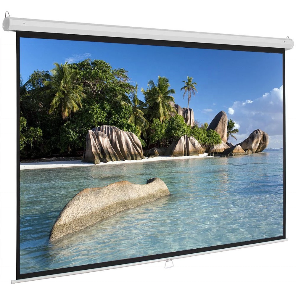 alr 120 Wall Mounted fixed frame Electric Portable Matte White Fabric Motorized Electric Projection Projector Screen