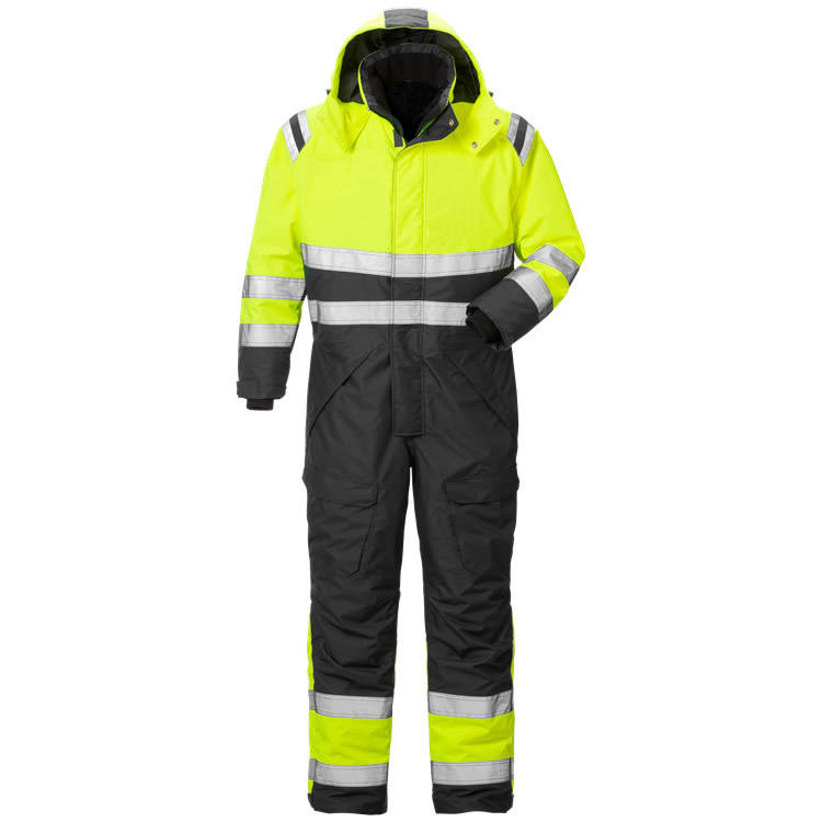 Factory Supply Oxford Polyester Hi Vis High Visibility Waterproof Quilted Winter Insulated Coverall