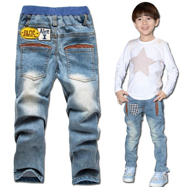 New baby products wholesale denim fashion casual branded cheap kids boys jeans pants