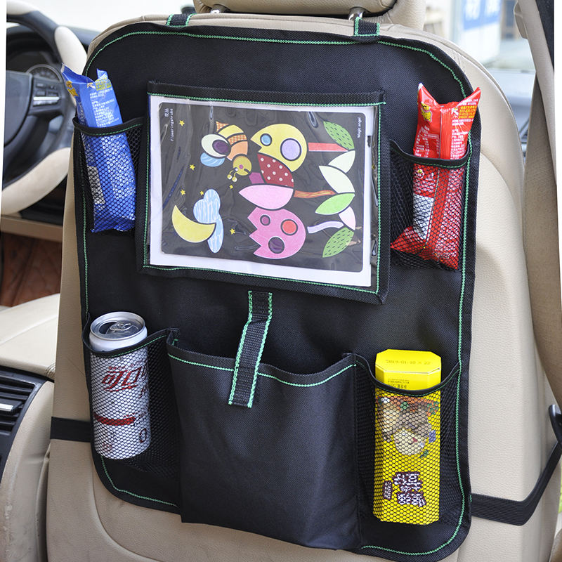 Car Back Seat Organizer [ Back Holder ] New Design Light Weigh Durable Car Back Seat Organizer With Tablet Holder