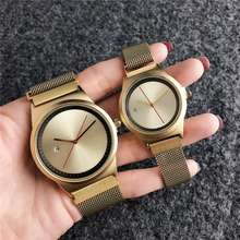 Hot Luminous Quartz Waterproof stainless  Straps  Couple Watch For Women And Men unisex Watches