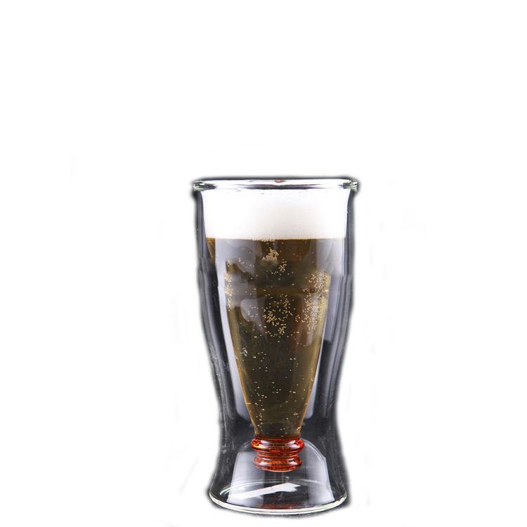 customized logo printable 250ml heat resistance high borosilicate beer glass /beer cup