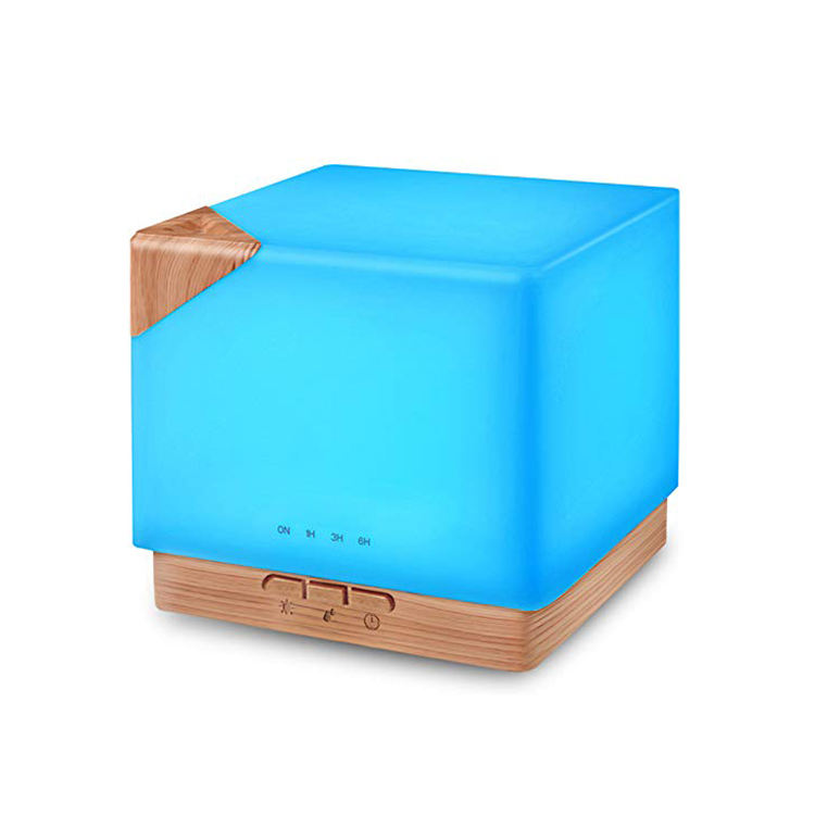 High capacity 700ml square automatic color changing ultrasonic aroma air humidifier