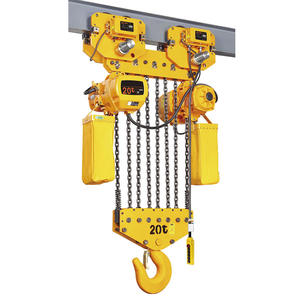 VISION oem design 1ton 2ton dhp 110v monorail traveling 2ton 25ton electric chain hoist with cable trolley electric pulley