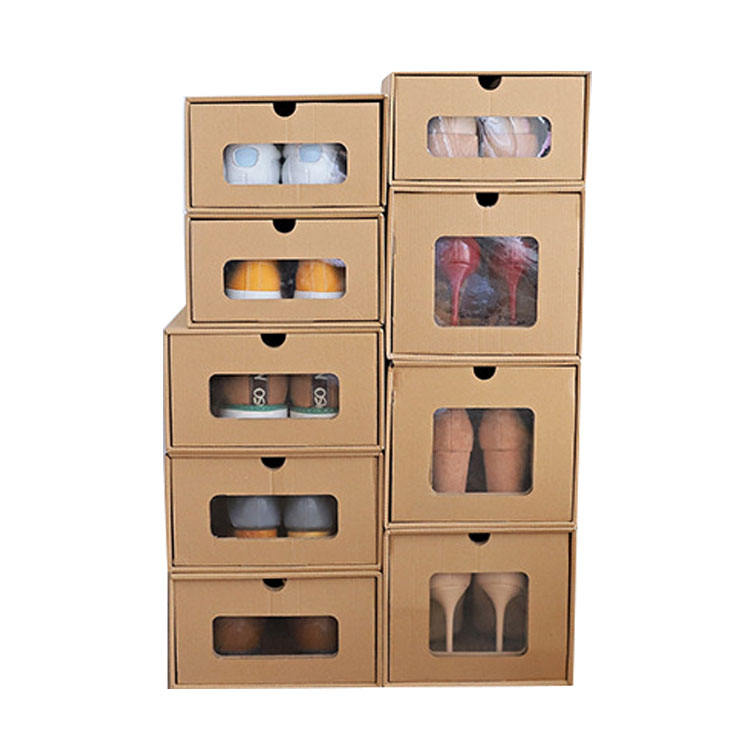 drawer shoe box men's and women's transparent shoe box finishing storage box thickened leather paper