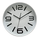 12'' white plastic quartz modern wall clock theme