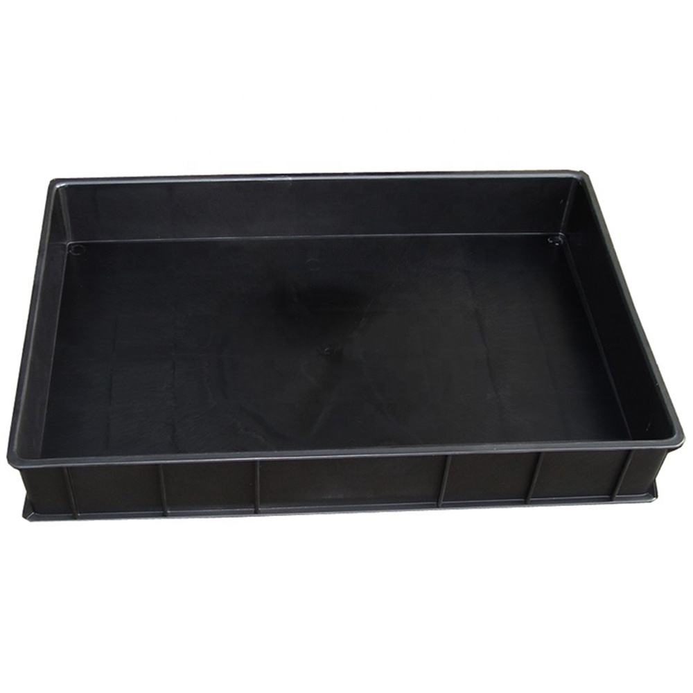 PP material plastic ESD antistatic turnover boxes for electronic components esd bin box Conductive Tray