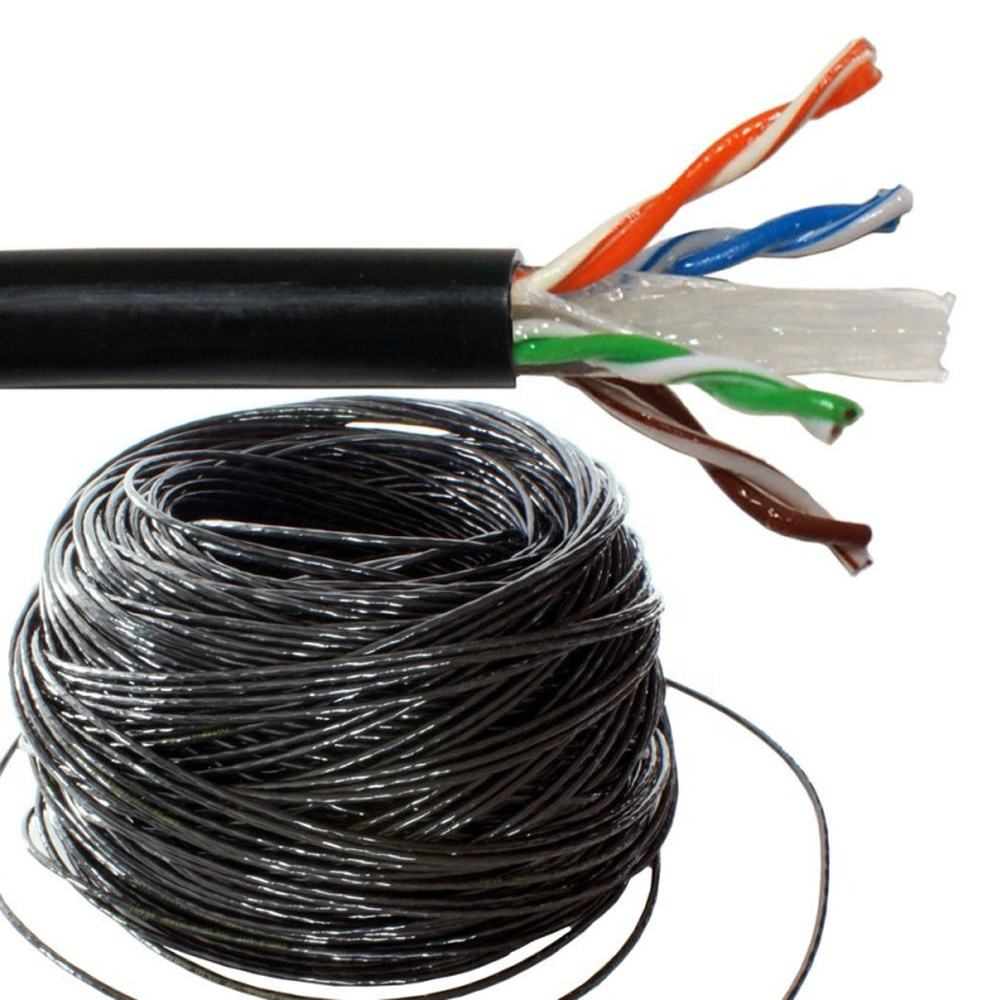 CAT6 OUTDOOR 1000FT EFFEN BULK KABEL DIRECT BEGRAFENIS <span class=keywords><strong>LAN</strong></span> ETHERNET-(AFGESCHERMDE/UNSHIELDED)