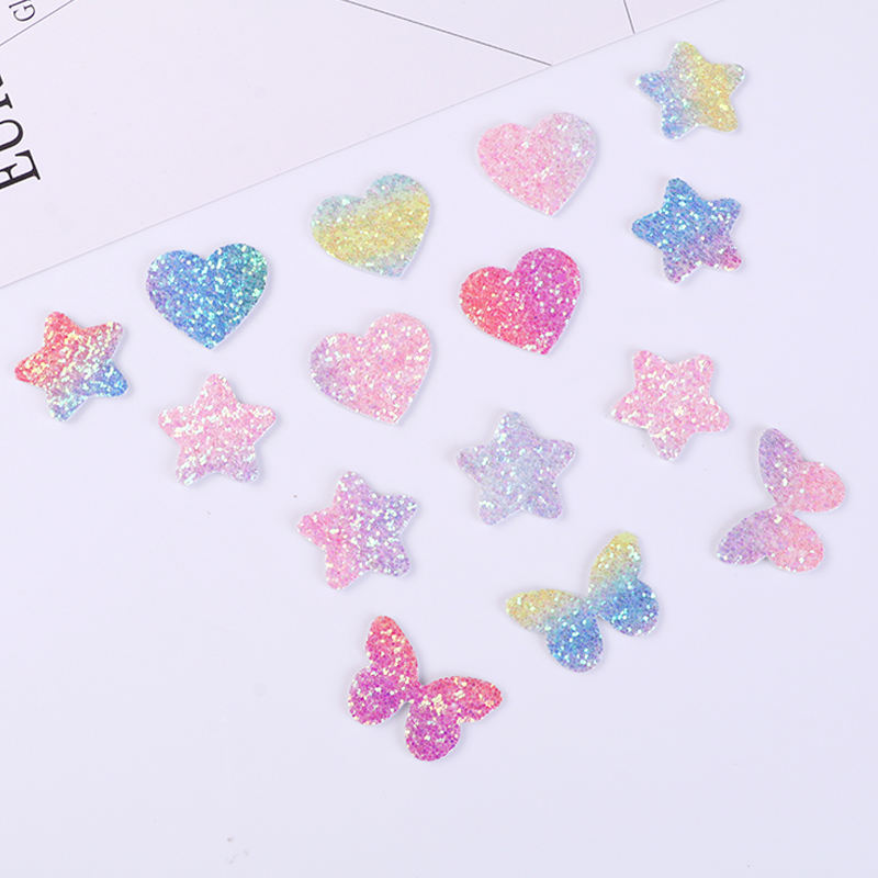Hot sale fashion 50 pieces stars butterfly love Mickey Patch button badge