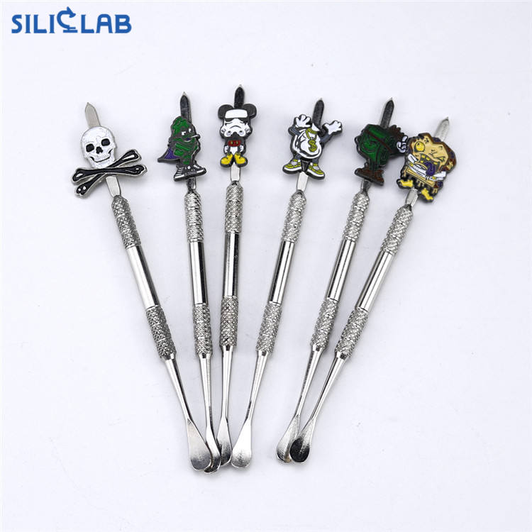 Popular 2020 Cartoon Style Stainless Wax Carving Dab Tool for Smoking Dab