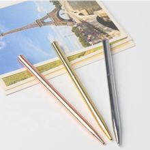 ballpoint type hot selling top quality metal slim stick pen