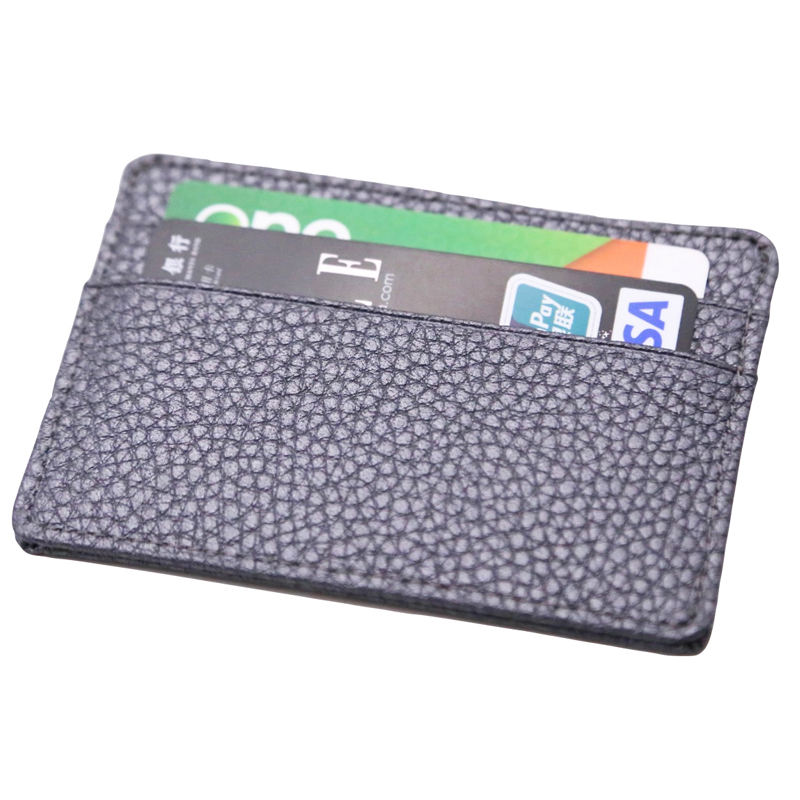 new material mini small rfid visa slot leather credit holder mens multi card wallet