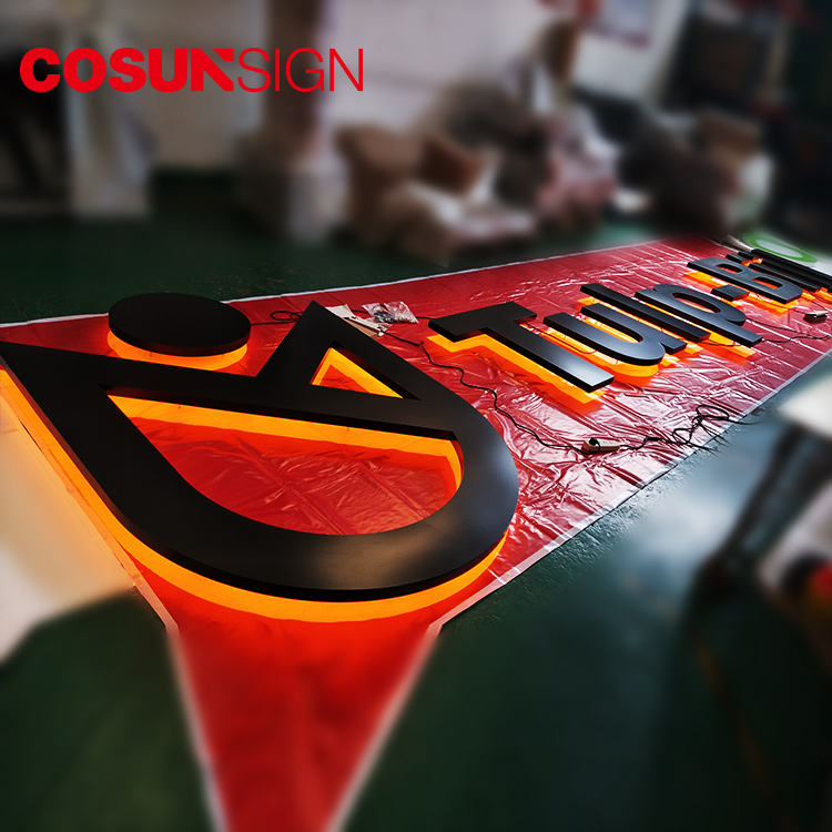 Eye-catching indoor LED letter sign-3D backlit letter sign