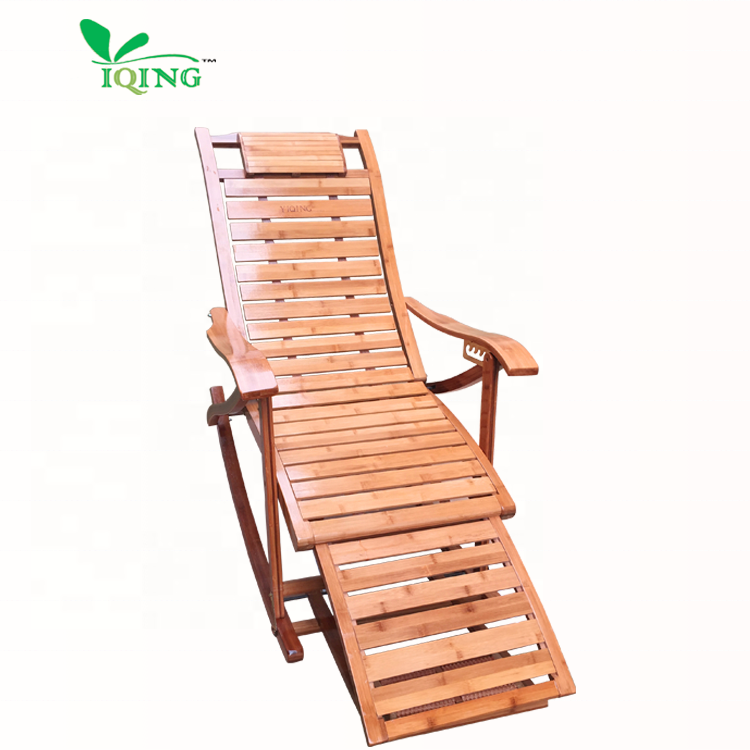 XB 2020 top sellers portable foldable relaxing chair cheap bamboo rocking chairs comfortable chairs for the elderly