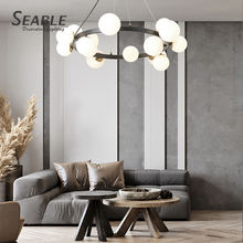 High quality nordic modern design room white ball led chandelier pendant light
