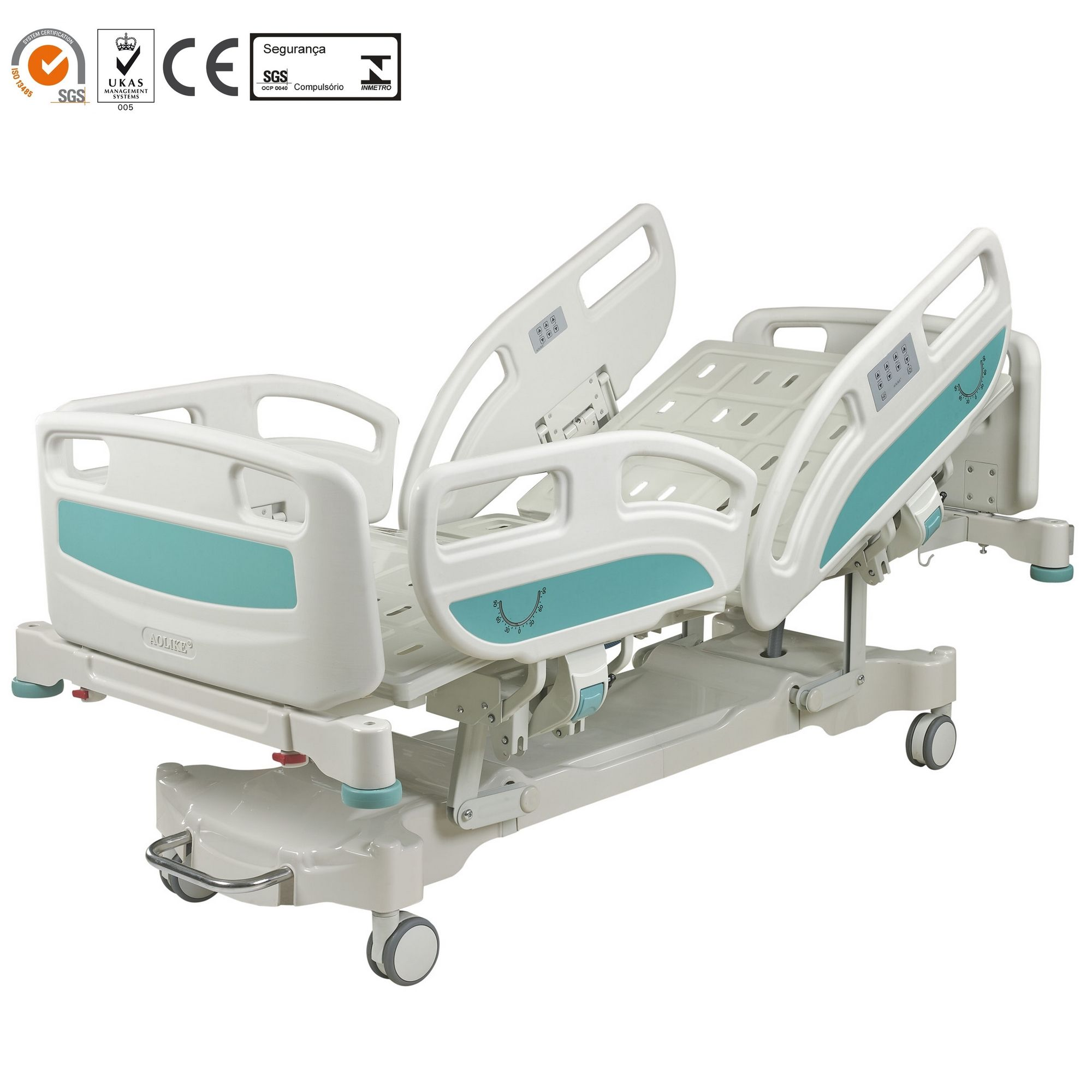 Factory Prices ICU 5 functions electric hospital bed with scale function