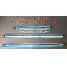 stainless steel Polished flexible stretch adjustable extendable Shower curtain Rod Shrinked Polybag packing