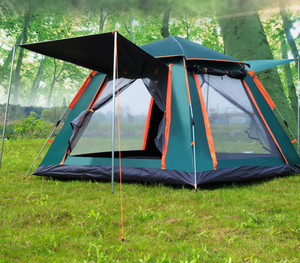 Hot Selling Lightweight Single Layer Outdoor Roof Top Inflatable Large Family Folding Automatic Pop Up Camping Tent