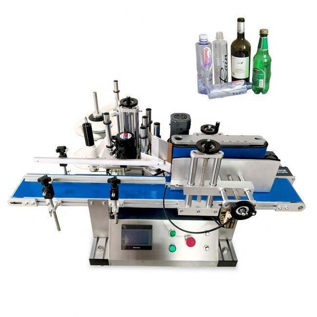automatic sleeving labeling machine bath bomb gift set bottle different sides labeling machinery
