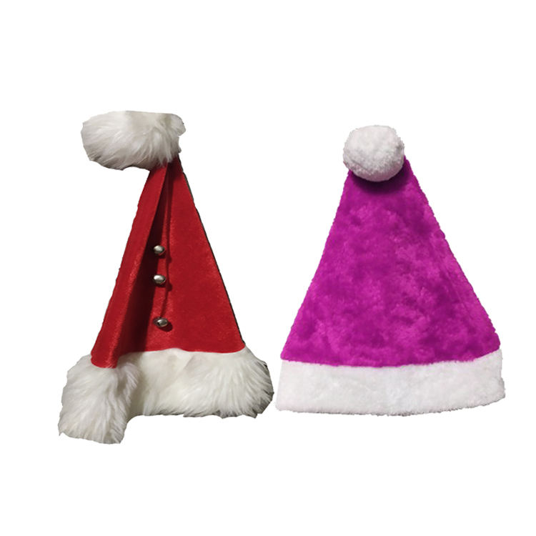 Blue Fiber Optic Newest Baby Claus Brown Giant Santa Hat