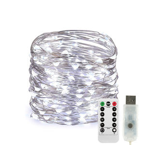 Koperdraad Warm Wit Led Kerstverlichting Usb Led String Licht Outdoor Decoratie Kerstverlichting
