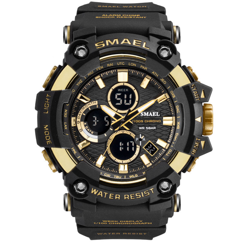 SMAEL new product 1802 sport water resistant electronic wrist watch