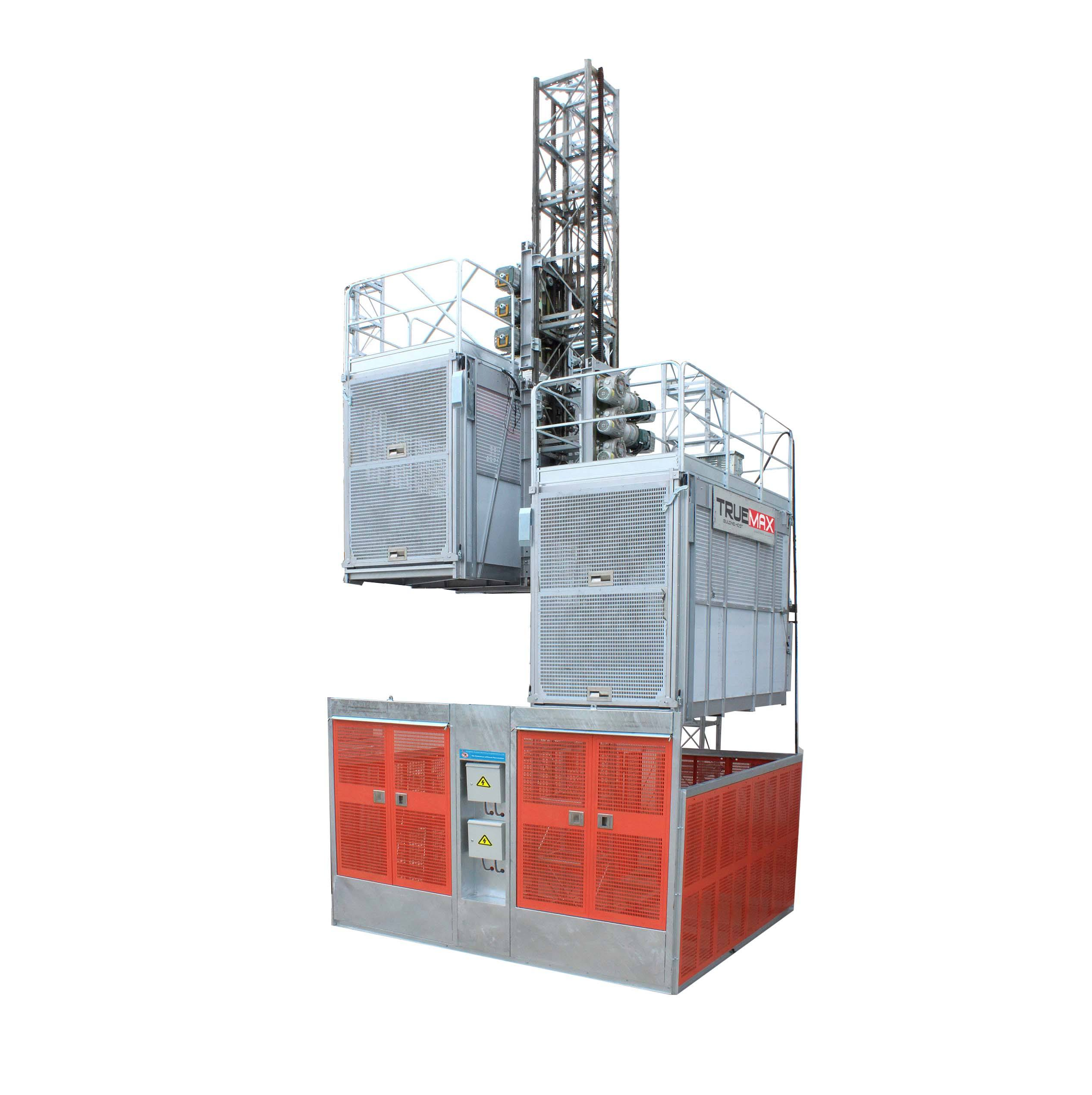 Double cage electrical machine hydraulic construction lift building hoist construction lifter