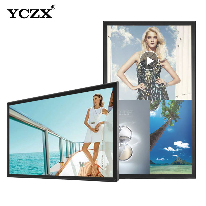 43 Inch Indoor Layar Sentuh Dinding Tampilan Iklan LCD LED Video Player