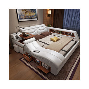 China Bedroom Furniture Manufacturer Smart Tatami Bed With Massage Function