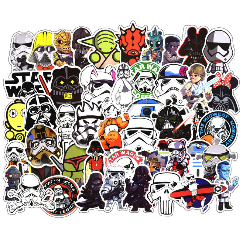 100pcs New Arrivals Movie Starwar Darth Vader Millennium Falcon Graffiti Sticker