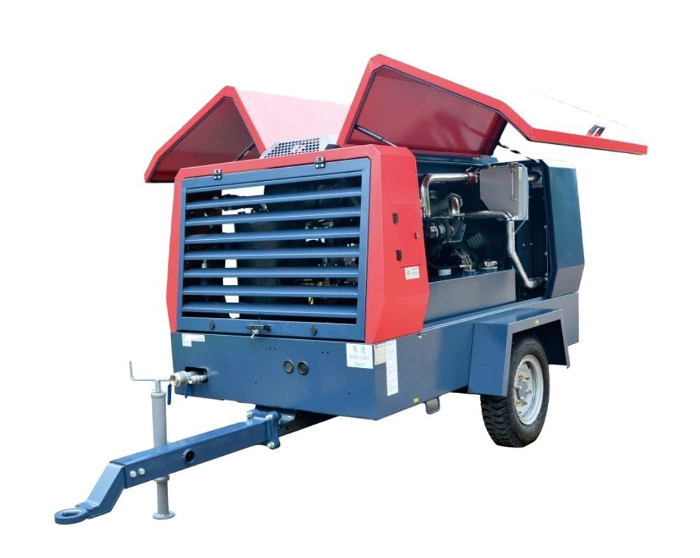 Screw Air Compressor Portable Air Compressor High Pressure for Mining 550CFM 16 Bar 550 M3/min from Atllas 15/min 142kw 82±3