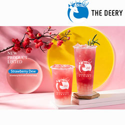 One-step service high-profit beverage agent Taiwan Bubble Tea franchise opportunity The Deery brand international franchise