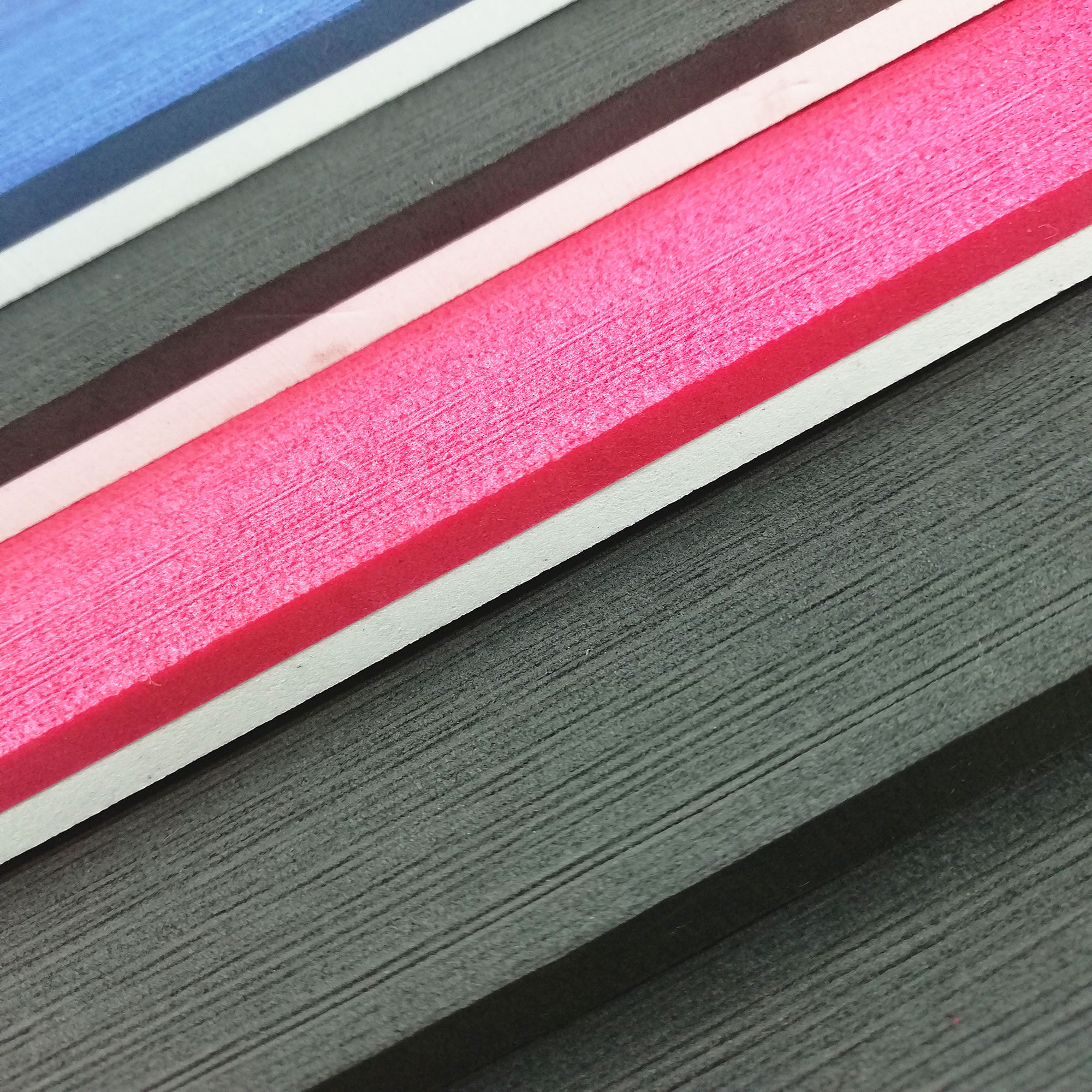 Rough surface 2 layer or 3 layer colorful EVA rubber foam sheet material for making hotel slipper, flip flop, and sandals