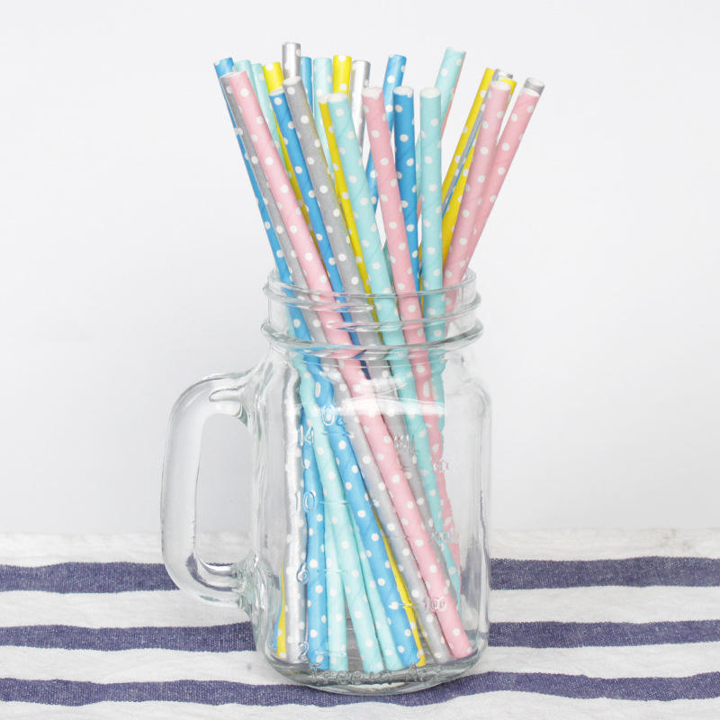 Environmental Friendly Customized Long Colorful Biodegradable Disposable Paper Drinking Straw, Paper Straws