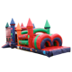 Promotional cheap kids inflatable obstacle course inflatable paintball obstacle