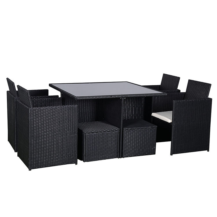 New 9 Pcs Modern Outdoor Rattan Chairs and Table Furniture Garden Set