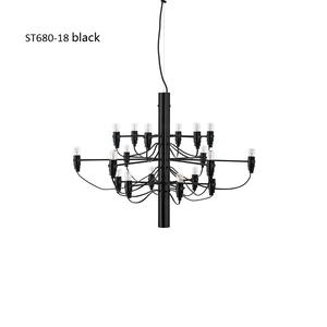 Shinetime Modern Gold Silver Black 18 Heads 2097 Gino Sarfatti Pendant Lights Summer Fruit Pendant Lamp