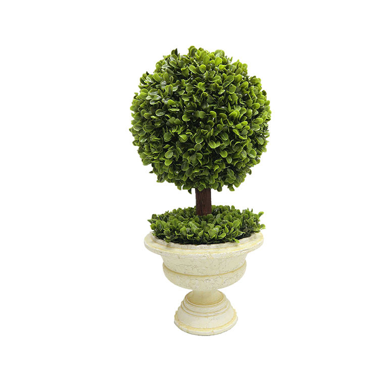 Decorative Artificial Green Plants For Office Desk Decoration Boxwood Ball