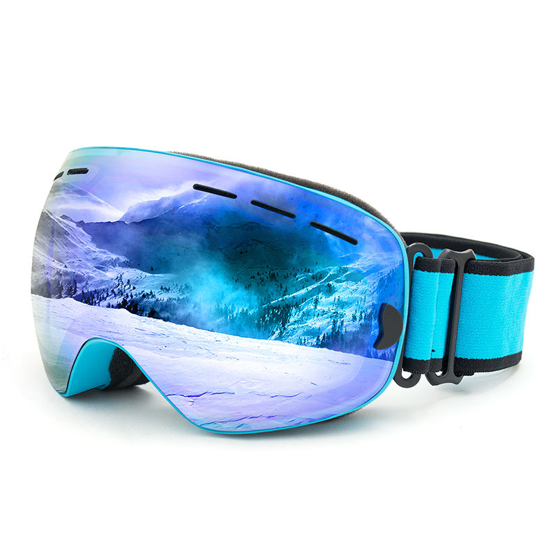 anti fog UV stop glare proof mirror coating mountaineering climbing hiking skiing ski goggles for adults kids children