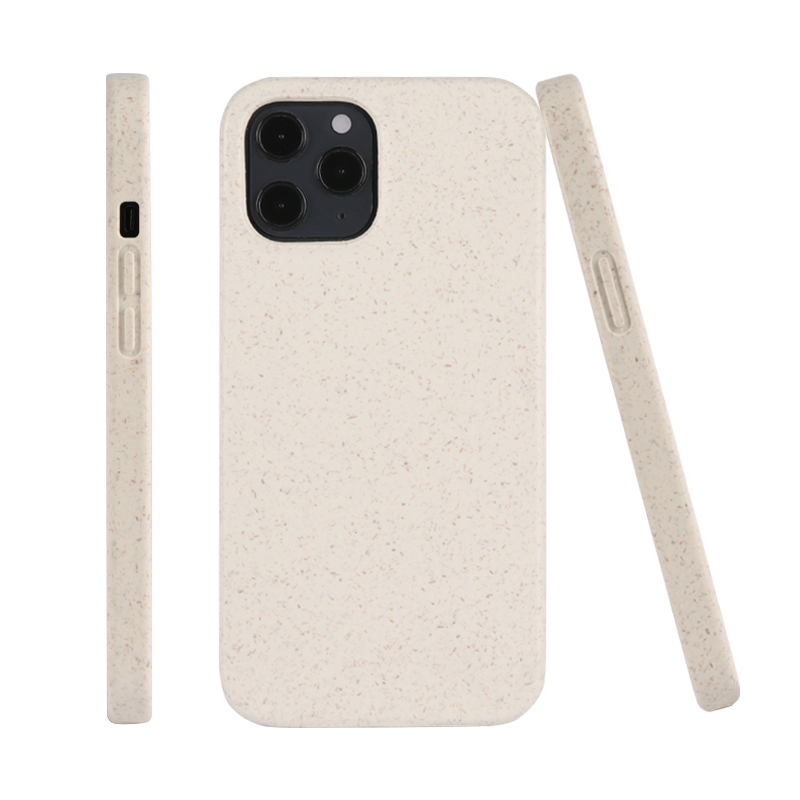 Fully recycled plastic Bamboo Wheat Straw Flax Fiber Plant Based fully Biodegradable phone case