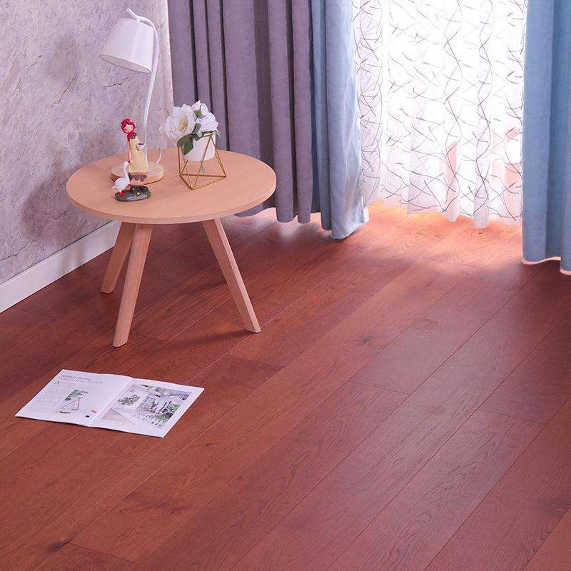 15mm high quality solid oak wood hardwood painting red customized parquet flooring design