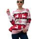 China custom ladies long sleeve O-neck mohair sweater red shrug jumpers ugly christmas sweater for women