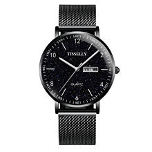 T069 TRSOYE Custom Logo Black Color Watches Men Wrist Quartz