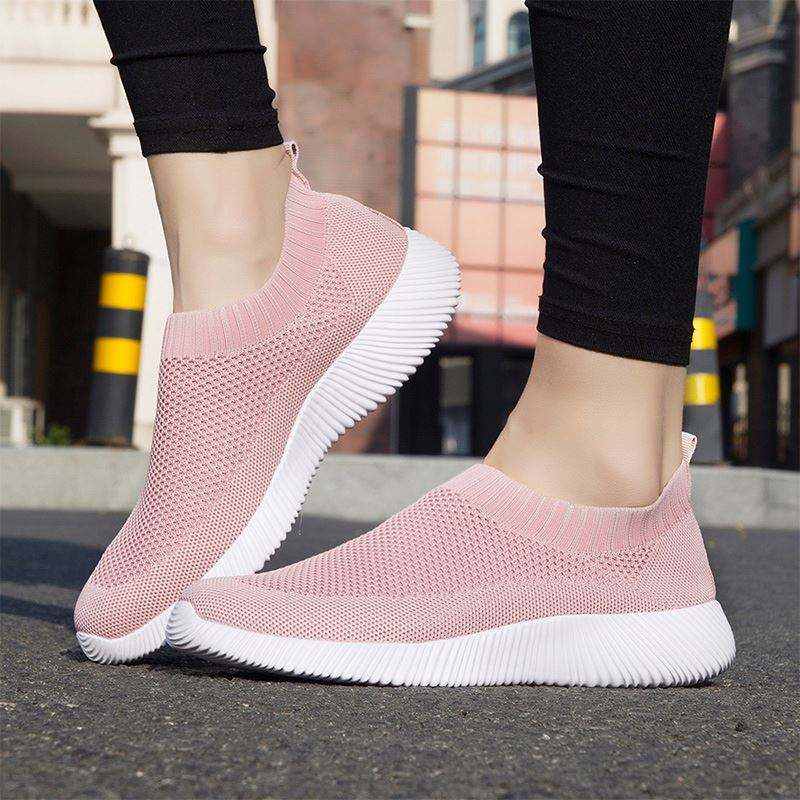 Fashion Women's slip on super light Athletic gym sport sock Walking Shoes Casual Mesh-Comfortable Work Sneakers