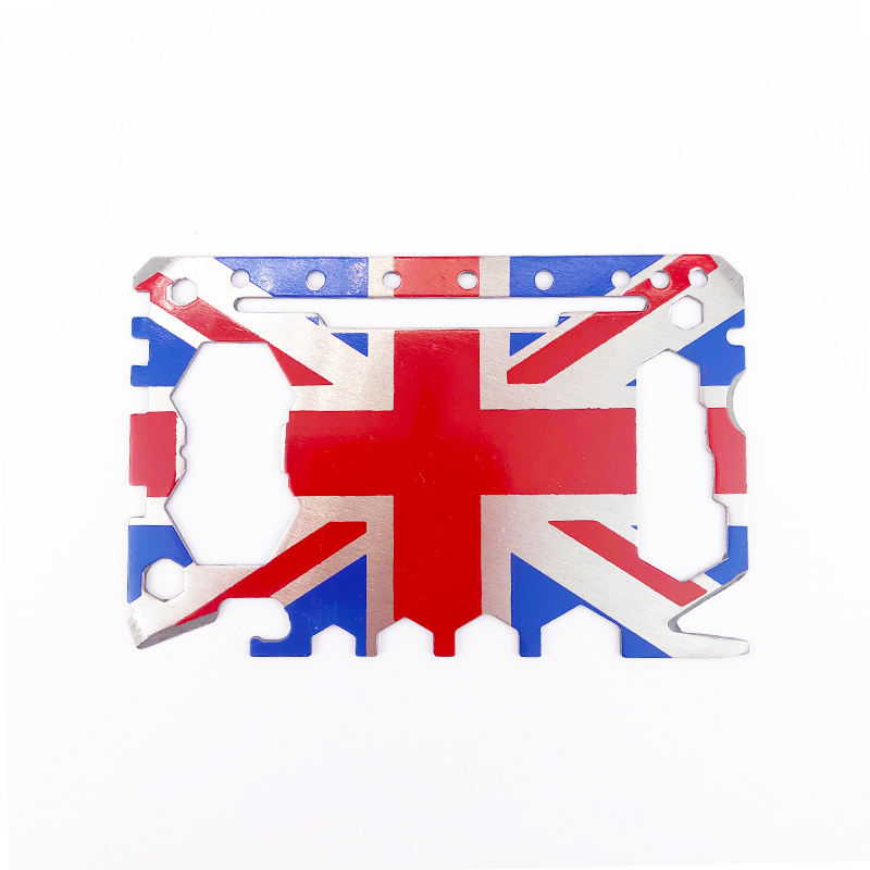 Hot Sale Promotion Britain British UK Flagで46 1 Multi機能Double Side Logo Super Tool Card