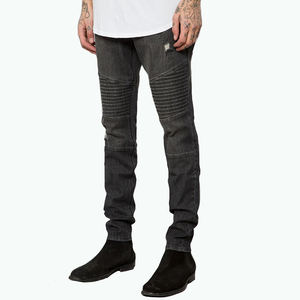 Dongguan factory custom logo high quality jeans skinny men jeans