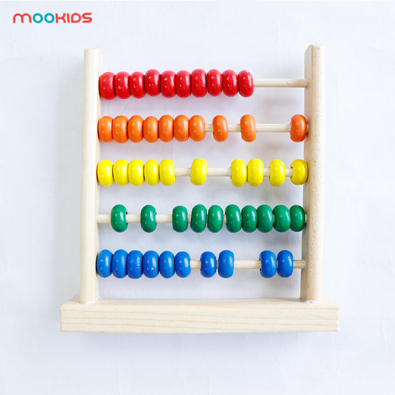 Wooden Abacus Children Early Math Learning Toy Numbers Counting Calculating Beads Abacus