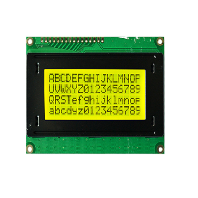 Monochrome yellow green led backlights 16 character and 4 lines LCD module 16x4