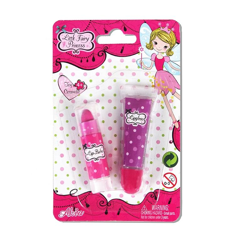 Customize Logo Natural Pink Lipstick And Eco Friendly Kids Safe Lip Gloss For Kids
